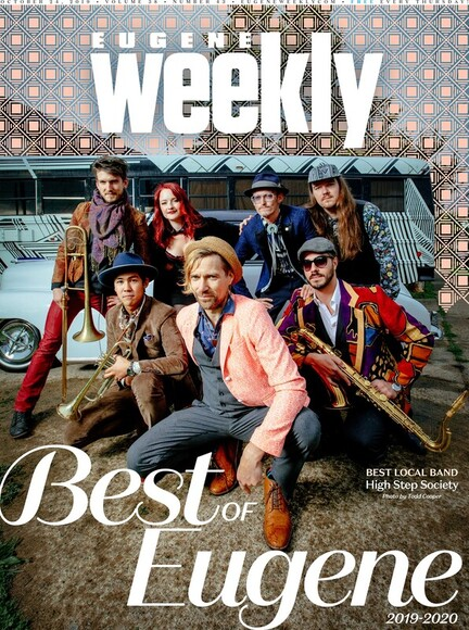 Band photo Eugene weekly cover